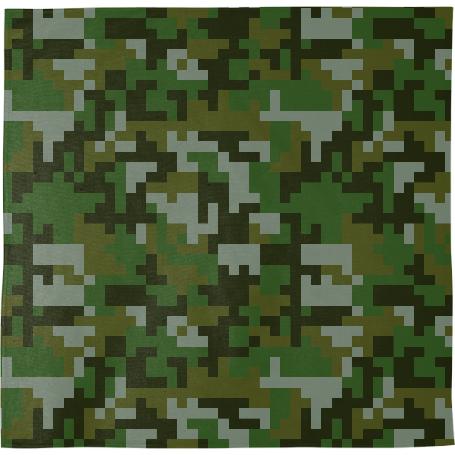 Shop Green Woodland Pixel Army Camo Pattern Bandana By ARTPICS Inspiration Army Pattern