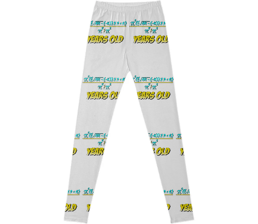Shop 30 Years Old Algebra Equation Birthday Gift Idea Leggings By