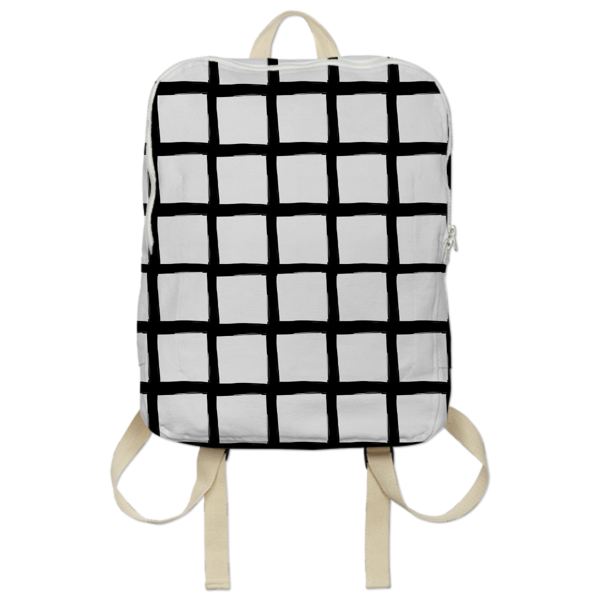 Shop Black And White Grid Bookbag Backpack By PENCIL ME IN