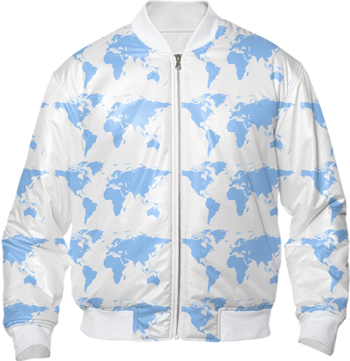 Shop blue world map pattern bomber jacket bomber jacket by elsewhere shop blue world map pattern bomber jacket bomber jacket by elsewhere print all over me gumiabroncs Gallery
