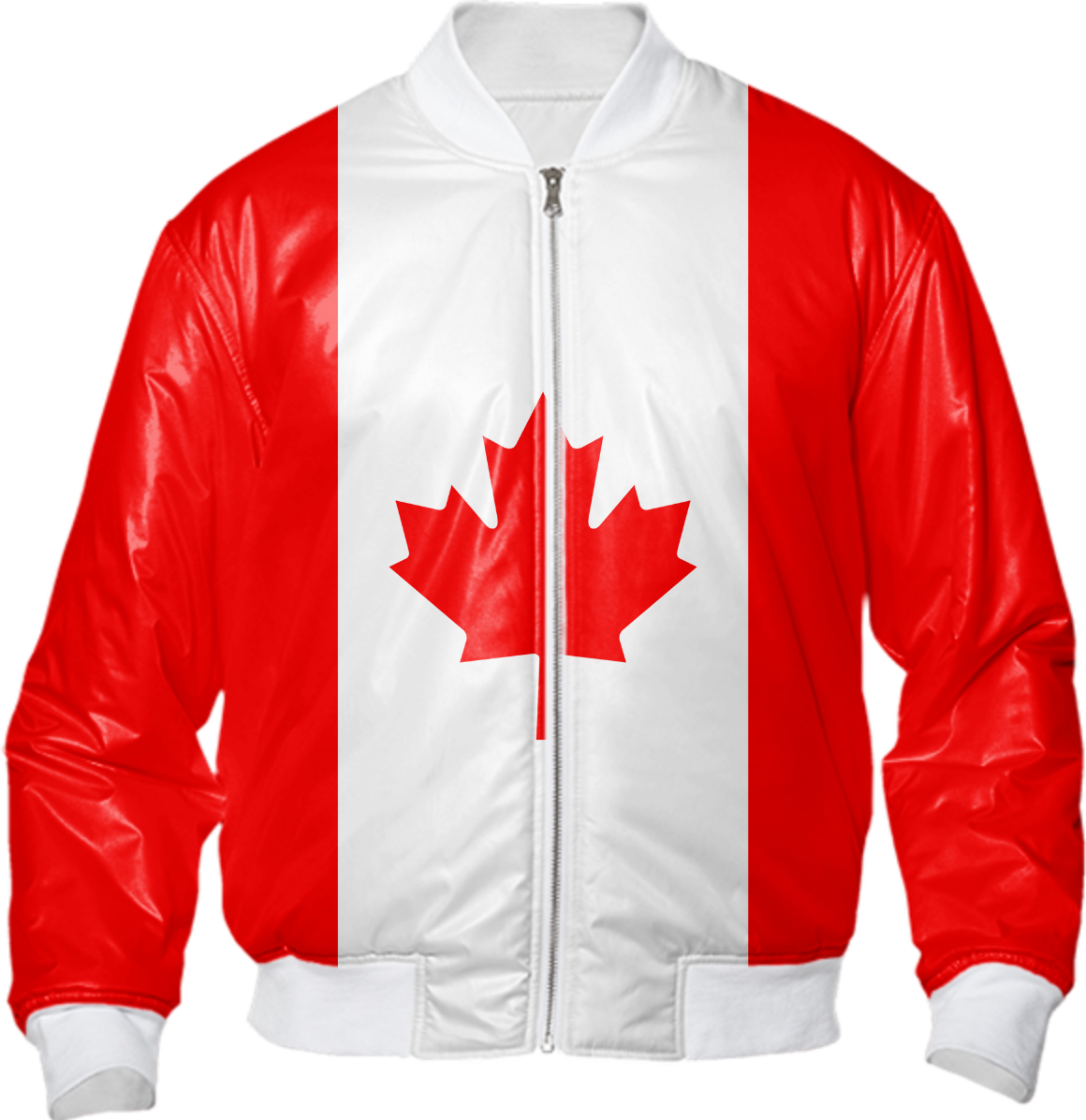 shop canadian flag bomber jacket by teemonkeys print all over me