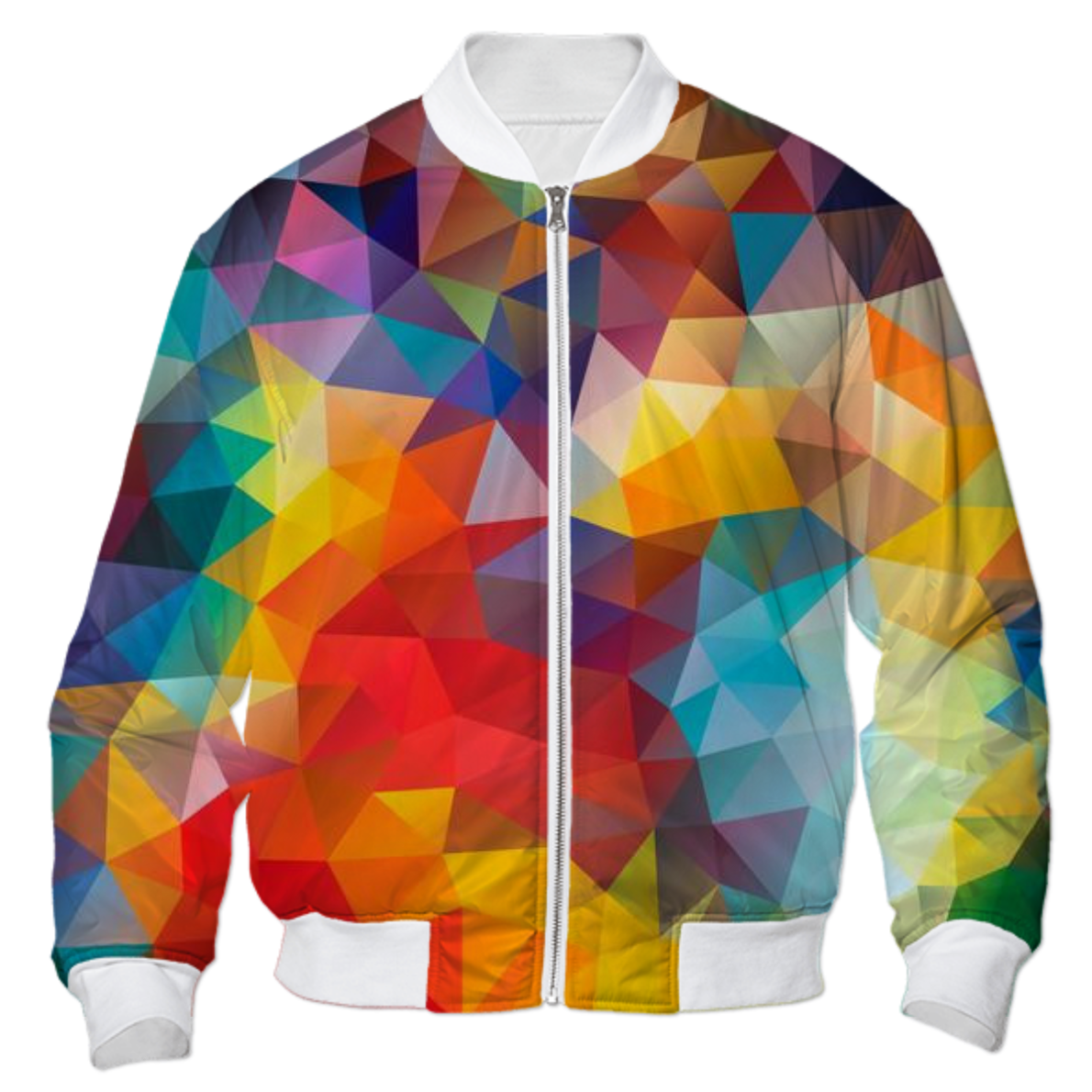 Shop POLYGON, TRIANGLES, PATTERN, MULTI COLOR, COLORFUL, RAINBOW ...