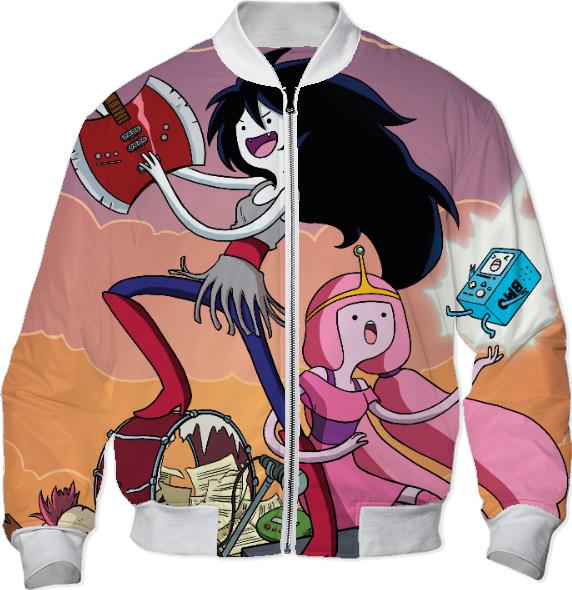 Shop Adventure Time Bomber Jacket Bomber Jacket By