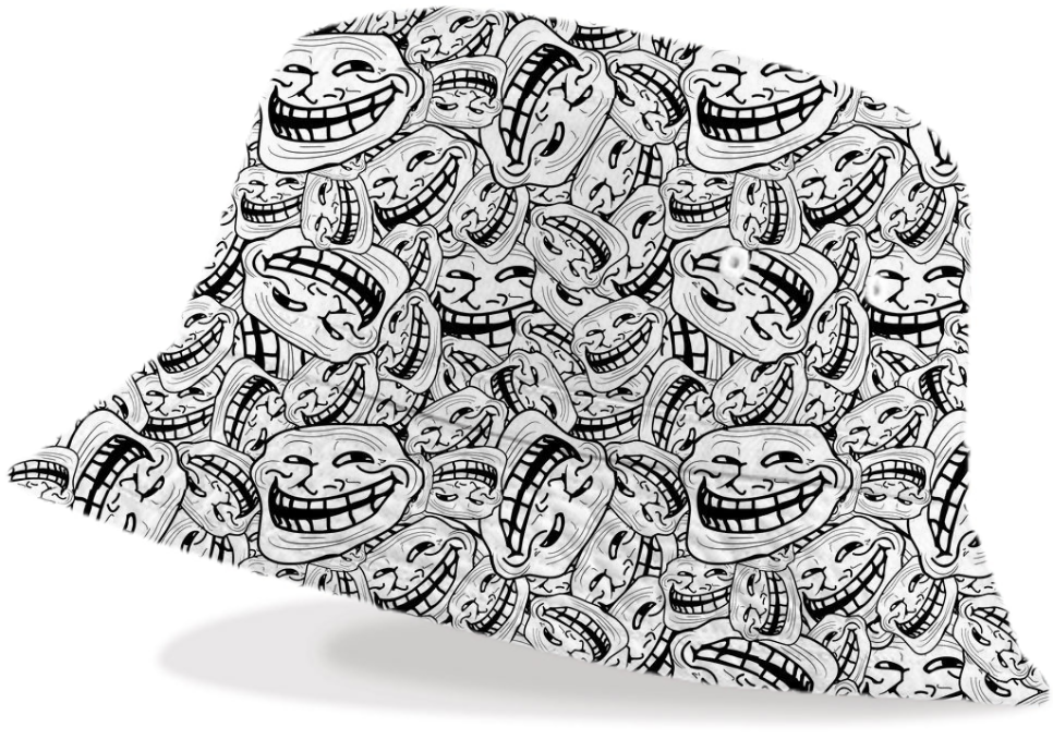 shop meme troll face bucket hat bucket hat by sawine print all over me