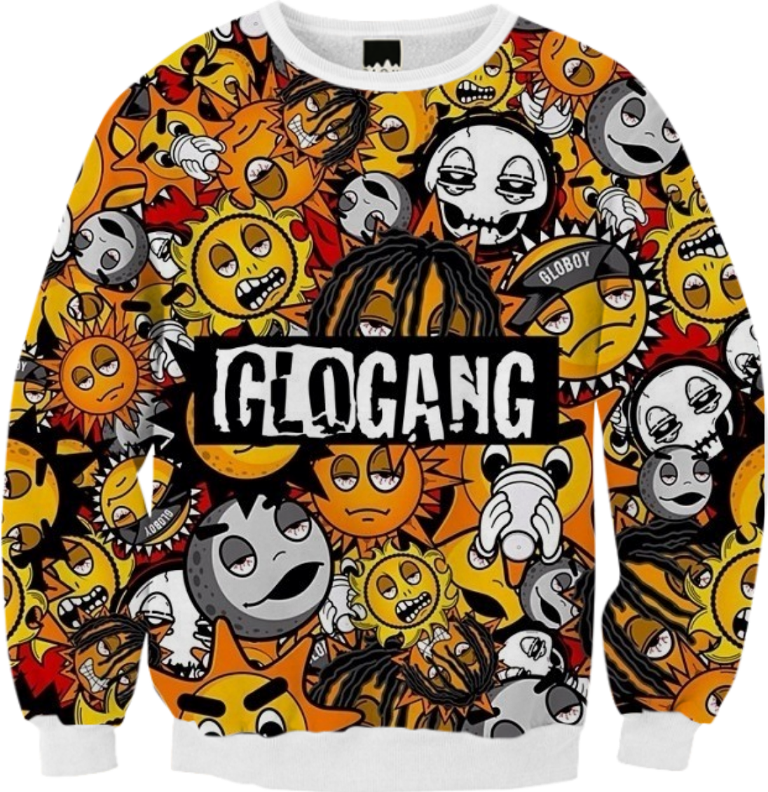 Shop glo gang ribbed sweatshirt by asapjaye print all over me this is a limited time offer and will no longer be available august 02 publicscrutiny Images