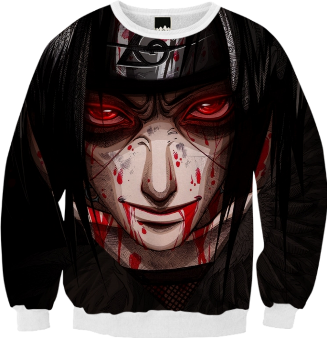 Uchiha Sweater: Shop Uchiha Itachi Sweater Ribbed Sweatshirt By Xkiritosao