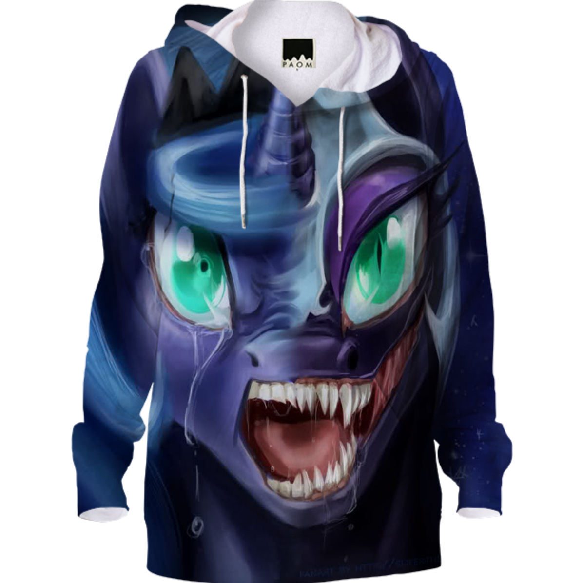 shop nightmare moon hoodie by aniquinnskyeater print all over me