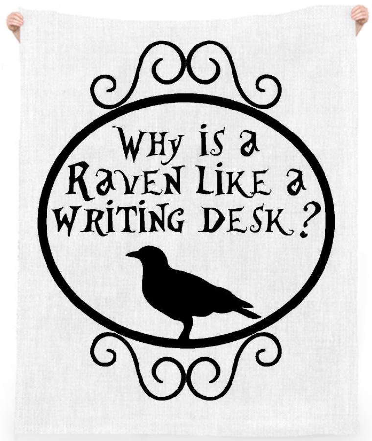 shop why is a raven like a writing desk  linen beach throw by jabble      rh   paom com