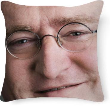 shop pillow o gabe newell pillow by basednewellbytemp