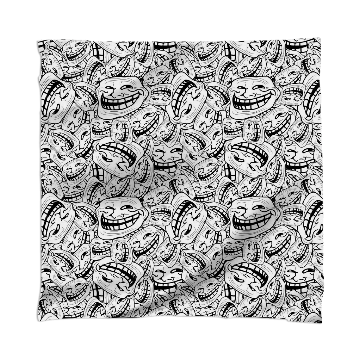 shop meme troll face pattern scarf scarf by sawine print all over me