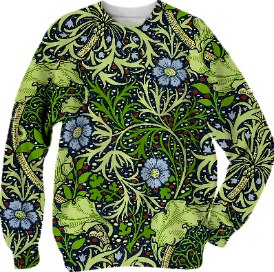 Shop Seaweed Vintage William Morris Wallpaper Cotton Sweatshirt by 240430489  Print All Over Me