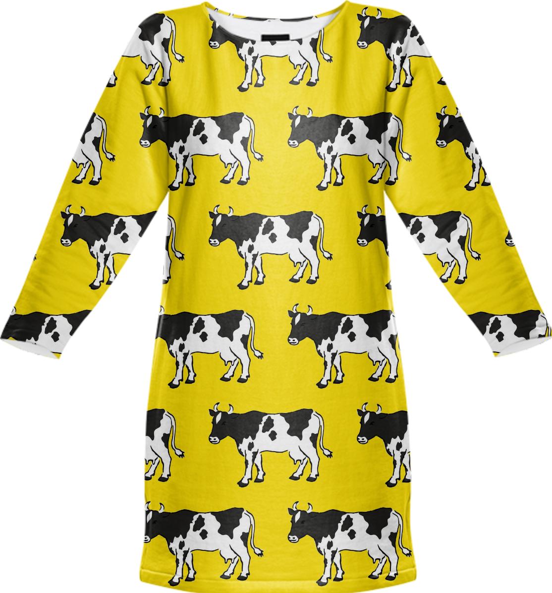 Dukepope: Shop Holy Cow! Sweatshirt Dress By Dukepope
