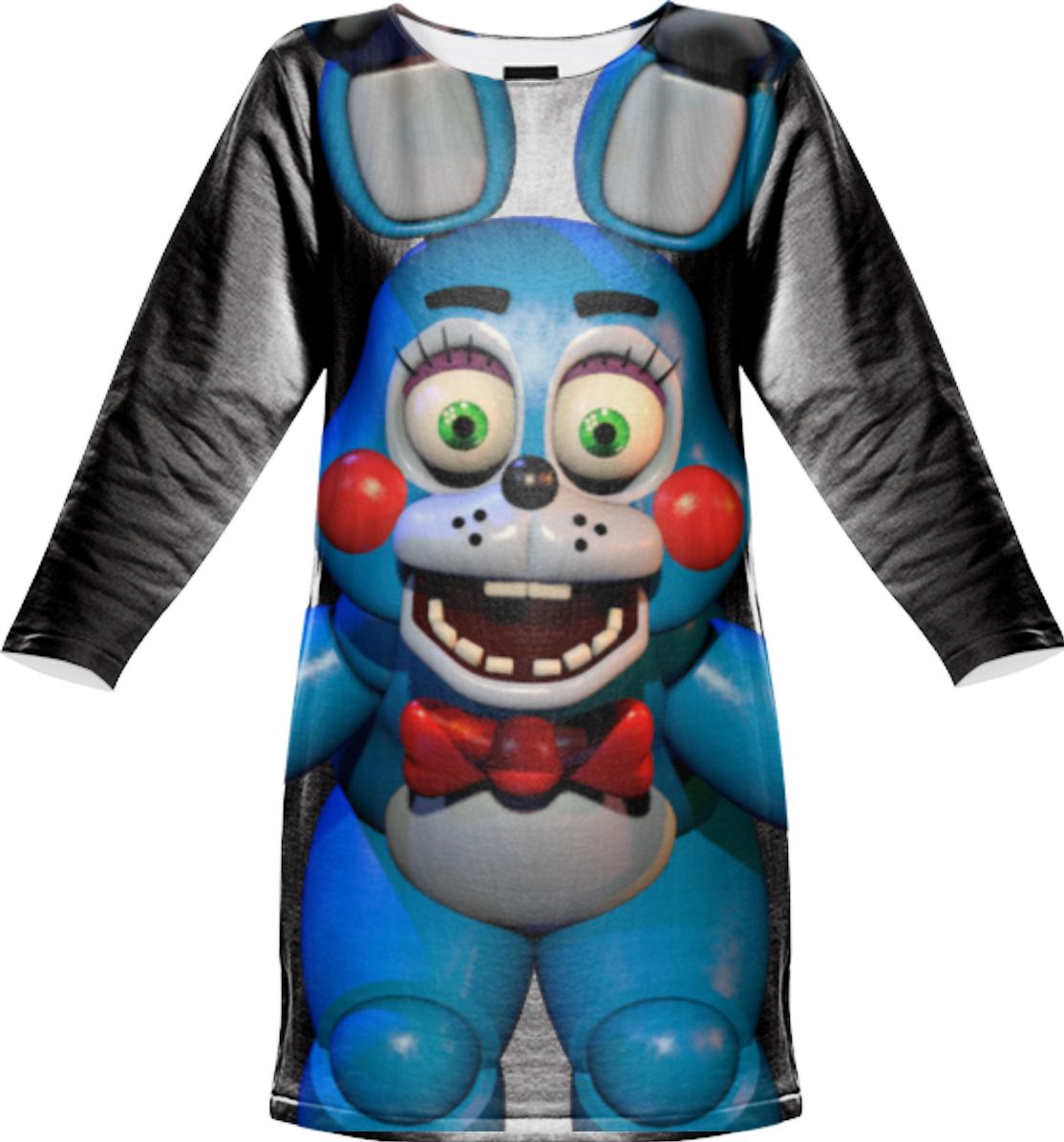shop toy bonnie sweatshirt dress by eucliddd print all over me