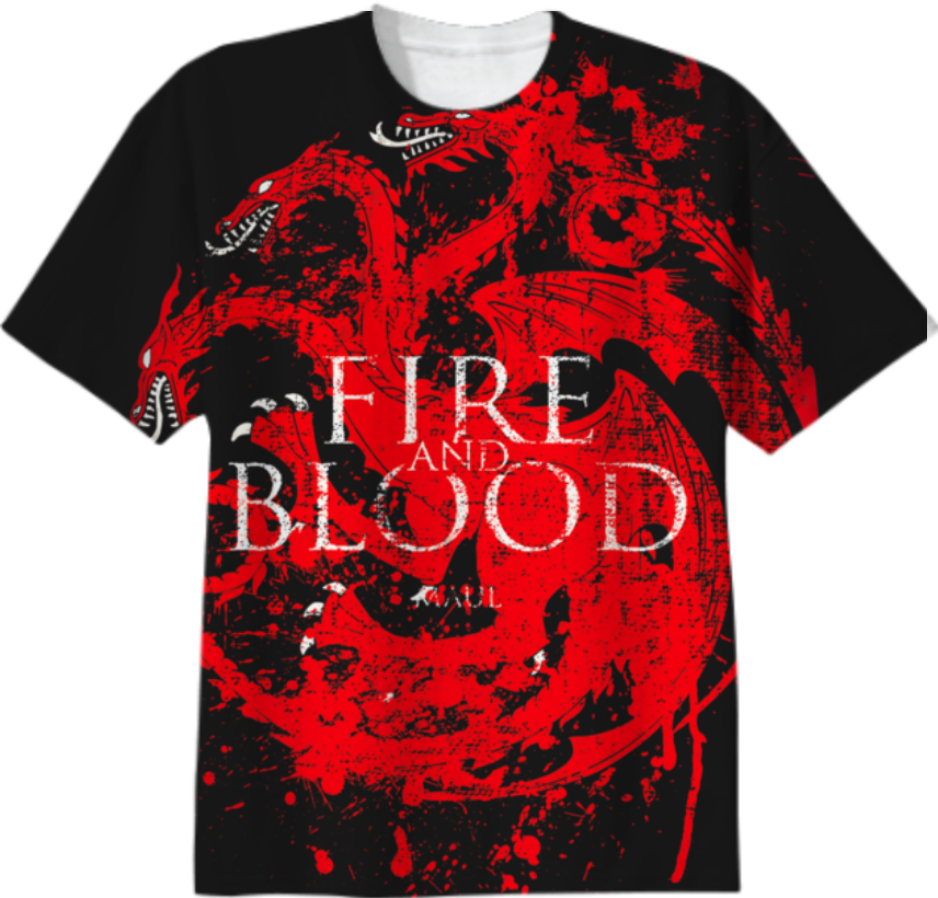 FIRE AND BLOOD HOUSE TARGARYEN GAME OF THRONES $38.00. By Ngecele