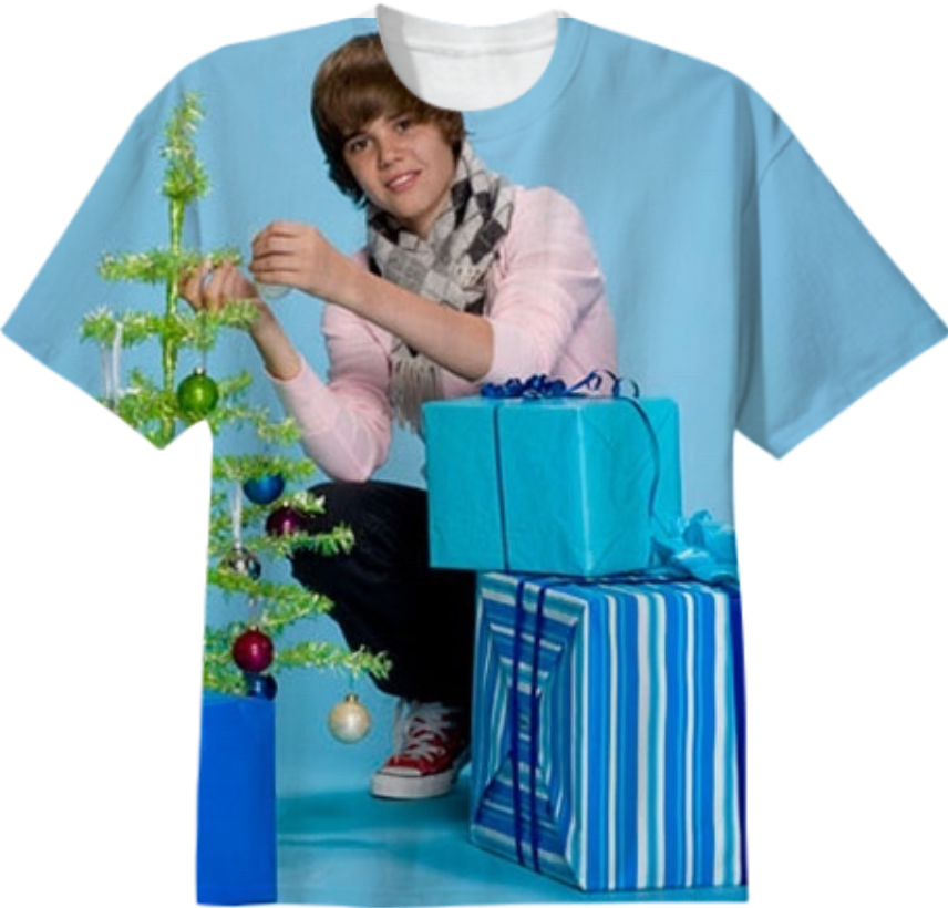 Shop merry christmas justin bieber Cotton T-shirt by stillstreet ...