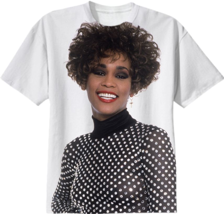 Shop whitney houston tshirt from 1991 cotton t shirt by for Cheap t shirt printing houston