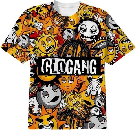 Shop glo gang cotton t shirt by big gucci sosa print all over me glo gang 3800 by big gucci sosa publicscrutiny Images