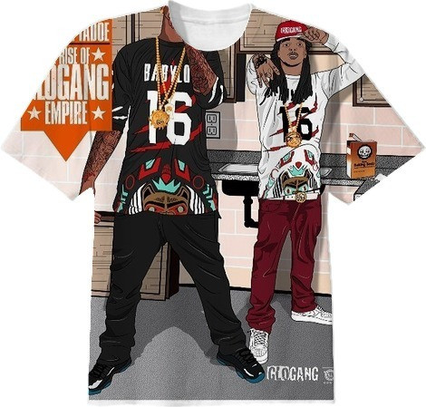 Shop GLO GANG Cotton T-shirt by a1sb | Print All Over Me