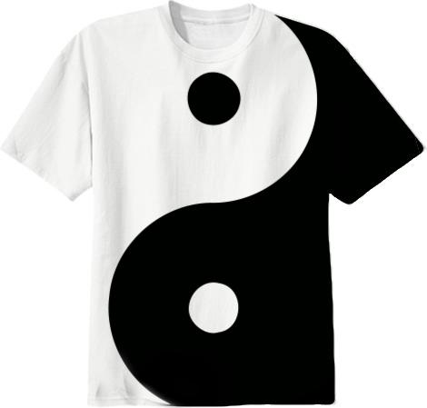 Shop Yin Yang T-shirt Cotton T-shirt by R@ND0M F@$#!0N ...