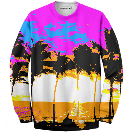 NEON PALM TREES SWEATSHIRT