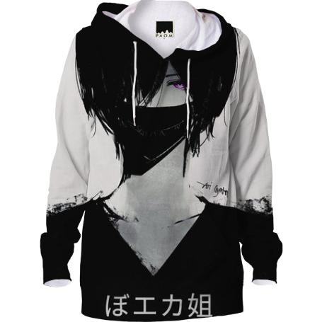 shop anime boy hoodie hoodie by dolleyes print all over me