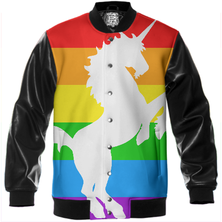 RAINBOW UNICORN VARSITY JACKET
